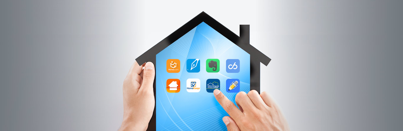 house shaped tablet with apps displayed
